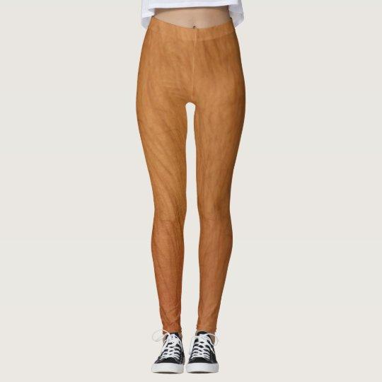Polainas melenudas de las piernas leggings