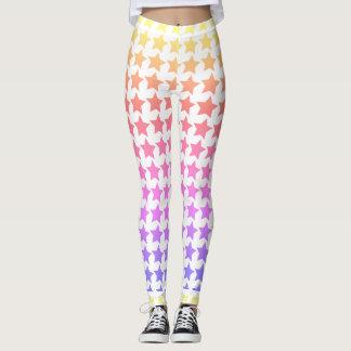 Polainas modeladas estrella del arco iris leggings