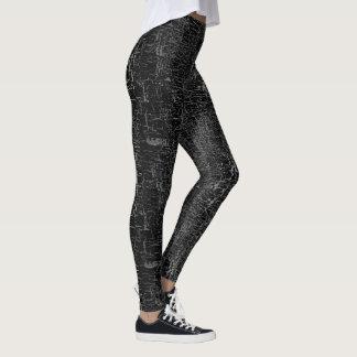 Polainas negras del modelo del diseño del grunge leggings