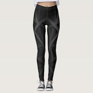 Polainas negras y grises del entrenamiento leggings