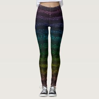 Polainas oscuras del arco iris leggings