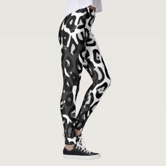 Polainas para mujer de la impresión blanca negra leggings