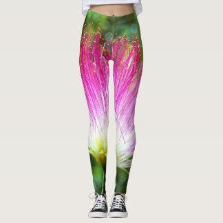 Polainas persas de la flor del árbol de seda leggings