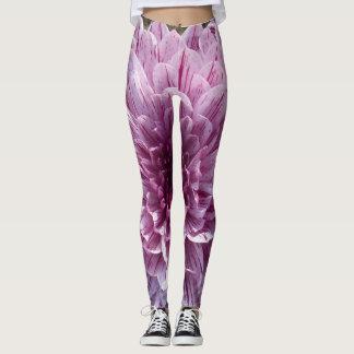 Polainas púrpuras de la flor leggings