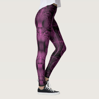 Polainas púrpuras de los fractales leggings