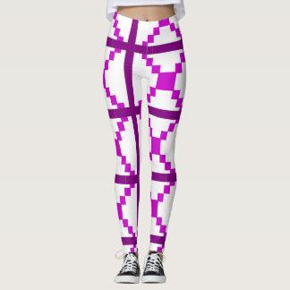 Polainas púrpuras del arte abstracto leggings
