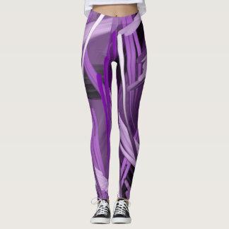 Polainas púrpuras del garabato leggings