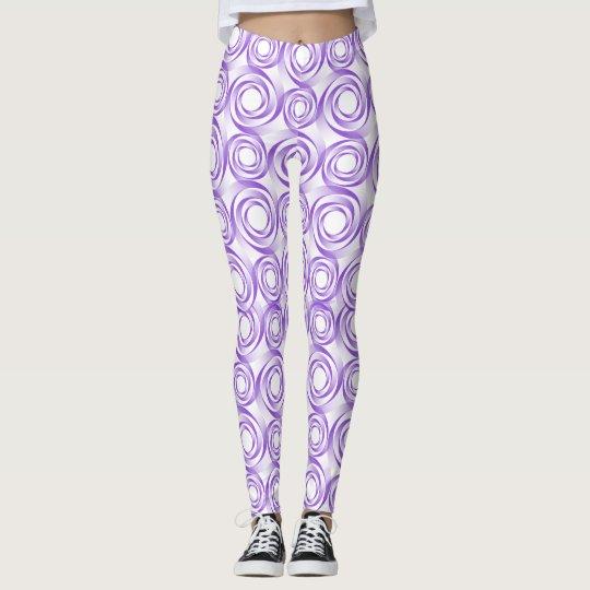 Polainas púrpuras del vórtice leggings