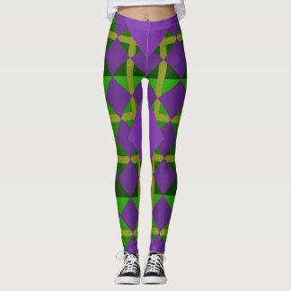 Polainas púrpuras verdes modeladas carnaval del leggings