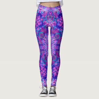 Polainas púrpuras y azules leggings