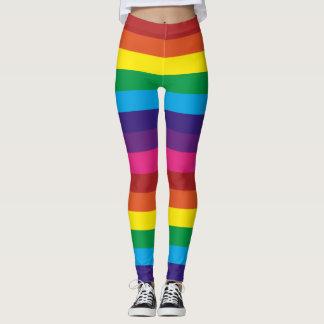 Polainas rayadas del arco iris leggings