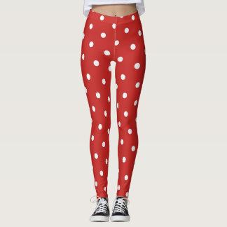 Polainas retras clásicas del rojo del estilo del leggings