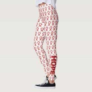 Polainas rojas del personalizado de la esperanza y leggings
