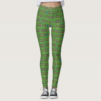 Polainas rojas y verdes leggings