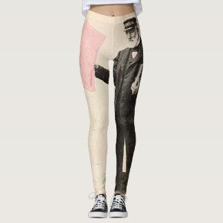 Polainas románticas del cartero del vintage leggings