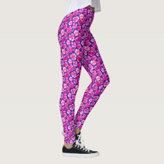 Polainas rosadas púrpuras del modelo del arte de leggings