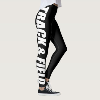 Polainas tipográficas del atletismo para los leggings