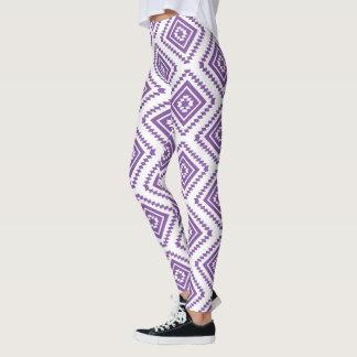 Polainas tribales púrpuras leggings