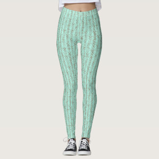Polainas verdes claras y del moreno del modelo leggings