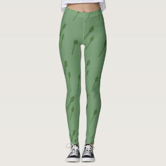 Polainas verdes de la esperma leggings