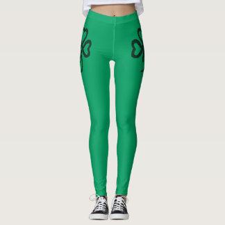 Polainas verdes de la moda de la aptitud del leggings