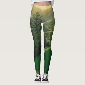 Polainas verdes de la montaña leggings