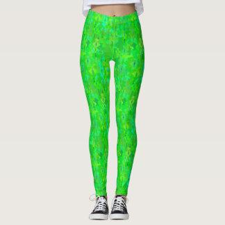 Polainas verdes de neón del modelo leggings