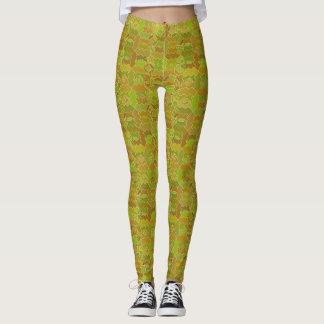 Polainas verdes del campo y de la corriente leggings