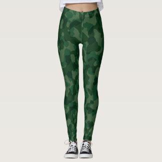 Polainas verdes del camuflaje leggings
