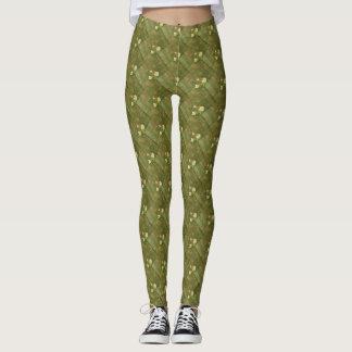 Polainas verdes rústicas leggings