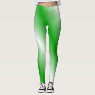 Polainas verdes y blancas leggings