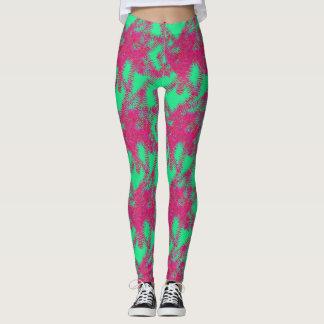 Polainas verdes y rosadas leggings