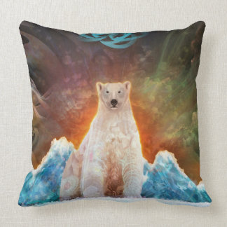 Polarbear trenzado cojín decorativo