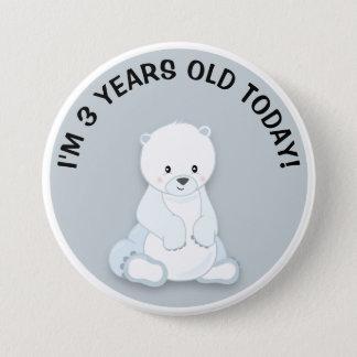 Polares blancos lindos refieren el botón gris del