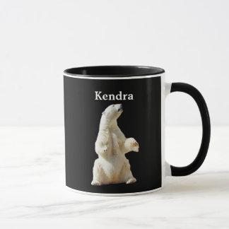 Polares blancos personalizada refieren negro taza