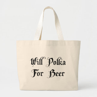 Polca para el regalo de la cerveza bolsa de mano