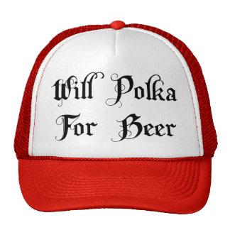 Polca para el regalo de la cerveza gorro