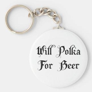Polca para la cerveza llaveros