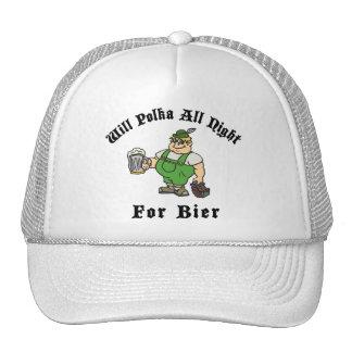 Polca toda la noche para el regalo de la camiseta gorras