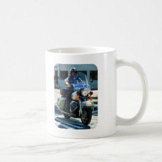 Poli de motocicleta taza de café