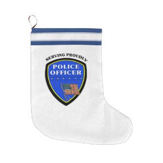 Policía Calcetín De Navidad Grande