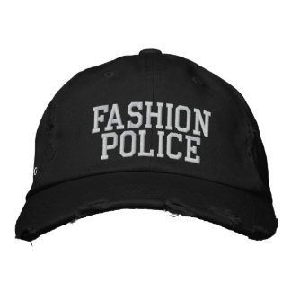 Policía de la moda gorra de beisbol bordada