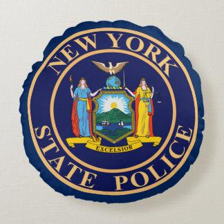 Policía del Estado de Nuevo York Cojín Redondo