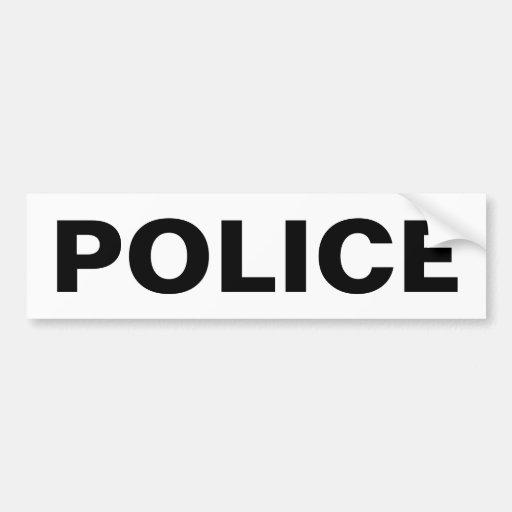 POLICÍA - emblema negro del logotipo Pegatina De Parachoque