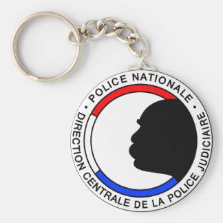 Policía Francesa Llavero Redondo Tipo Chapa