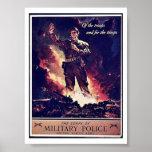 Policía militar posters