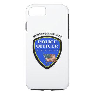 Policía que sirve orgulloso funda iPhone 7