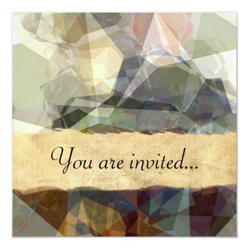 Polígonos abstractos 218 invitacion personalizada