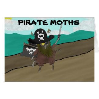 ¡Polillas del pirata! Tarjeta De Felicitación