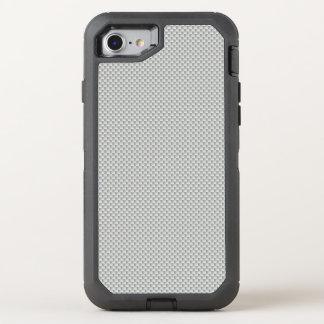 Polímero blanco y gris de la fibra de carbono funda OtterBox defender para iPhone 7